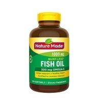 Nature Made 鱼油 1000mg + Omega-3 300mg 胶囊 150粒 防打嗝款