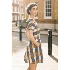 miss patina标价为8折格纹连衣裙