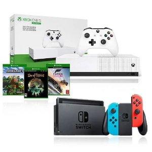 $399NS with R&B Joy-Con + Xbox One S 1TB All-Digital Edition
