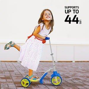 $39.93(原价$49.99)Swagtron 2合1 儿童三轮踏板车,秒变平衡车