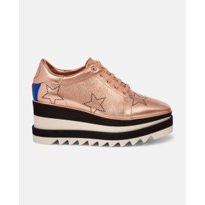 Stella McCartney金色厚底鞋