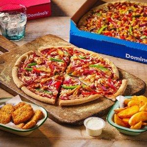 部分地区可低至5折!全国满£30享7.5折Domino's 英国最大国民级披萨连锁 满额好价 pizza night 来袭!