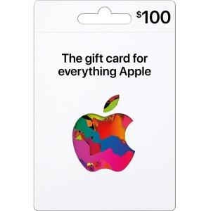 额外送免费$10 Best Buy 礼卡新版Apple 礼卡 $100面值, 线下+线上+软件商店 通用