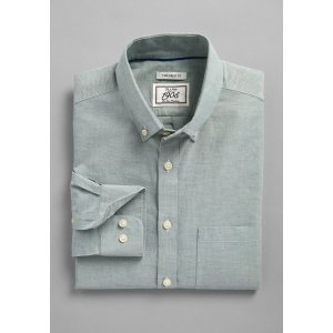 1905 Collection Tailored Fit Button-Down Collar Solid Sportshirt - 1905 Sportshirts | Jos A Bank