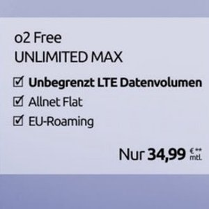 网速高达 225 Mbit/s 欧盟免费漫游O2现在厉害了!狂推无限流量合同全包 34.99欧