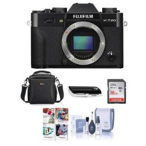 $499 起FUJIFILM X-T20 APS-C 无反相机 + 配件套装