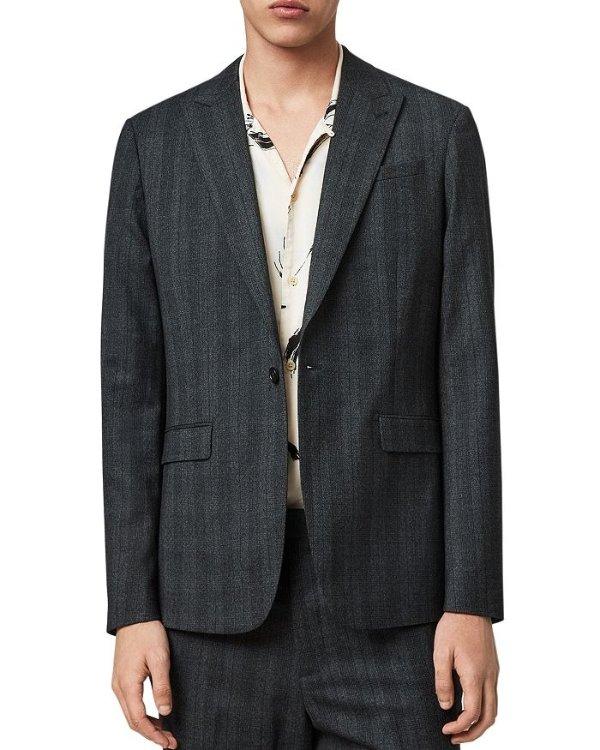 Tonal Plaid Slim-Fit 西装外套