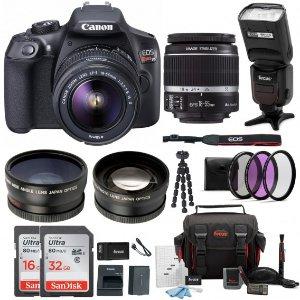 $399 无税包邮Canon EOS REBEL T6 18-55mm 单反相机 带配件套装