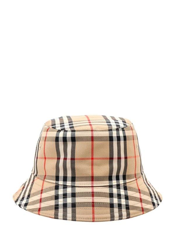 格纹渔夫帽