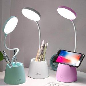折后€14起 灯臂可随意弯曲hctaw 创意笔筒台灯热促 可以放笔可以架手机 超高人气