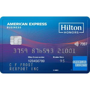 Welcome Offer: Earn 130,000 Hilton Honors Bonus Points. Terms Apply.The Hilton Honors American Express Business Card