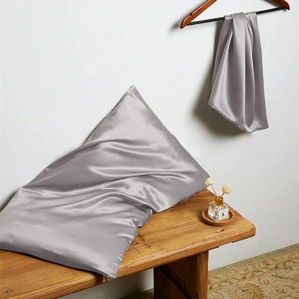 22姆米真丝拉链枕套