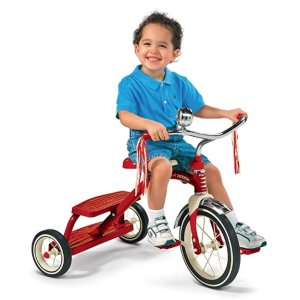 Amazon Radio Flyer Classic Red Dual Deck Tricycle