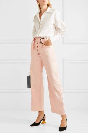 REJINA PYO   Emily belted high-rise wide-leg jeans   NET-A-PORTER.COM