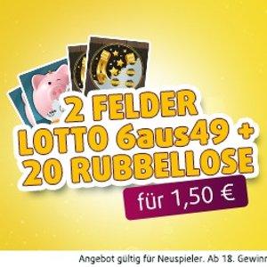 现价€1.5(原价€6)2次Lotto 49选6+10 Piggybank+10 horseshoe 周六奖金1100万欧元