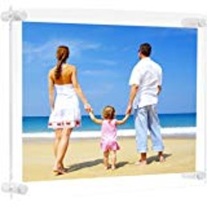 Amazon.com - A3 Acrylic Wall Hanging Photo Frames, Holds Biggest Pictures 16.5 x 12 Inches by Boxalls, 3mm+3mm Thickness Clear -