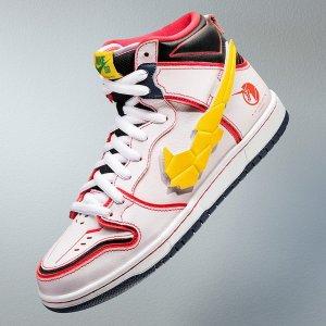 定价£109.95 9月24日上线双厨狂喜!Nike dunk SB X 高达 跨界联名 魔术贴Swoosh