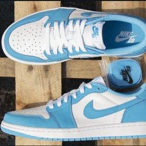 8月12日 美东10点 $110+包邮Nike SB x Air Jordan 1 北卡蓝配色 即将发售