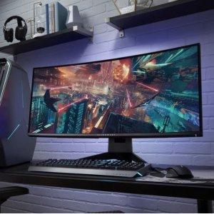AW3418DW只需$899+$75礼卡网购周 Dell 显示器大促销 多款电竞显示器好价