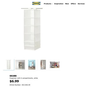 SKUBB Organizer with 6 compartments   - IKEA