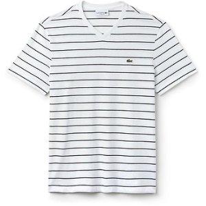 MEN'S V NECK STRIPE T恤