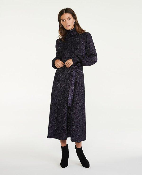 高领毛衣连衣裙
