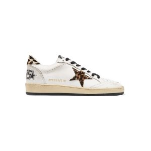 GOLDEN GOOSEBall Star leopard-print calf hair and leather sneakers