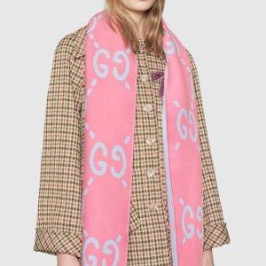 £180收全羊毛围巾 封面同款有货Gucci 新款围巾帽子登场 分分钟就要断货的呀