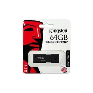 KingstonDigital 64GB 100 G3 USB 3.0 Data Traveler (DT100G3/64GB)