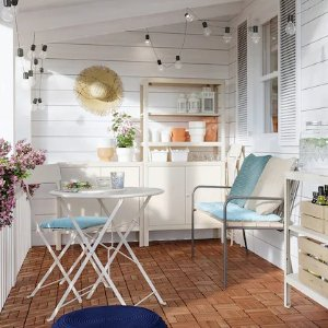 Ikea适合公寓阳台可折叠小圆桌