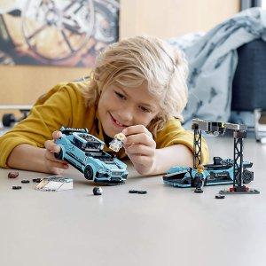 7.6折现价€30.59(原价€39.99)LEGO 超级赛车系列 76898 捷豹电动方程式赛车和I-PACE赛车套装接近史低价