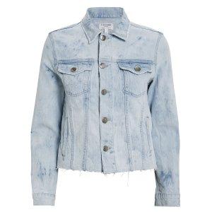 FrameDistressed Tie-Dye Denim Jacket