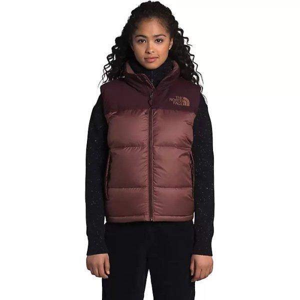 Eco Nuptse 巧克力色背心外套