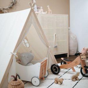 8折+立减$10 封面帐篷$109Kinderfeets 实木儿童玩具 平衡板、自行车 可爱小兔车$25