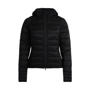 Canada GooseBrookvale Black Fabric Down Jacket With Hood