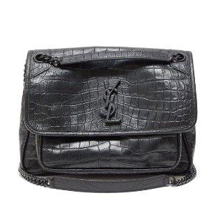 $1844(官网定价$2490)Saint Laurent 新款中号蛇纹Niki包包