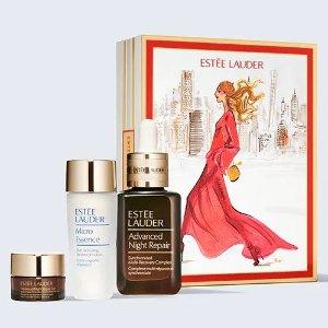 $175(价值$226)+送5件套Estee Lauder 小棕瓶3件套 含50ml正装+30ml微精水+眼霜