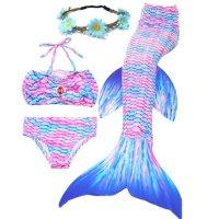 美人鱼儿童泳衣套装