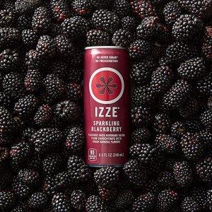 IZZE气泡果汁 黑莓口味 24罐装