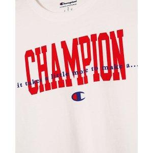 低至7折 白色T只要£15Champion 品牌直营 基础款男、女 Logo 服饰热卖中