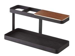 Amazon.com: YAMAZAKI home Tower Desk Bar - Wood & Steel Organizer, Black: Musical Instruments