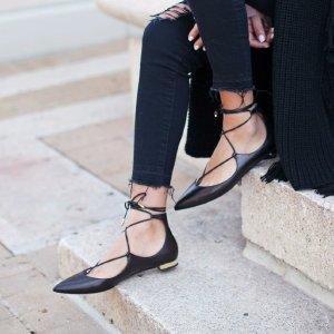 Christy 绑带平底鞋