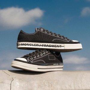 定价$220 双色可选上新:Fragment Design x Moncler x Converse 鞋款已上架