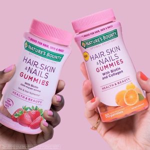 $6.32 Nature's Bounty Optimal Solutions Hair, Skin & Nails with Biotin and Collagen, 80 Count