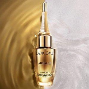 $203+送6件套(价值最高$150)上新:Lancome 菁纯系列玫瑰修复抗老安瓶 浓缩小金瓶