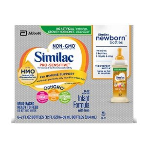 $29.63(原价$53.87) 平均每瓶$0.6Similac Pro-Sensitive 非转基因婴儿液体奶,48瓶$29