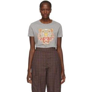 9216df9be women. Kenzo- Grey Limited Edition Dragon Tiger T-Shirt