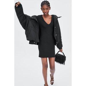 ZaraTEXTURED WEAVE DRESS Details