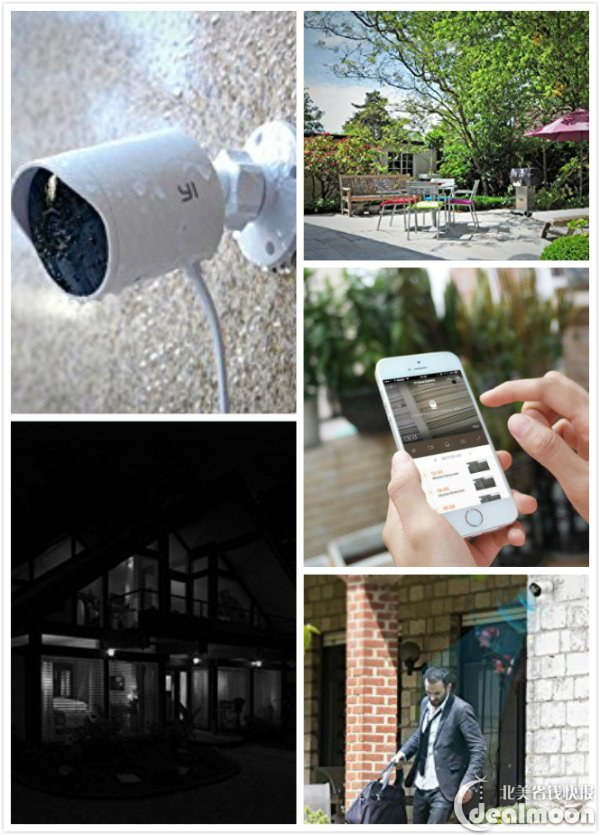 YI Outdoor Waterproof Night Vision Security Camera $68 88