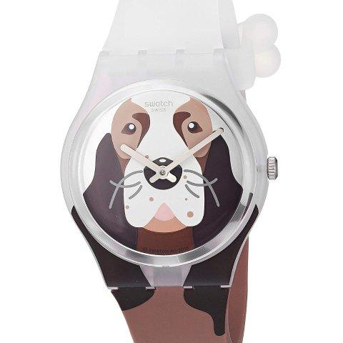 $54.05Swatch I Love Your Folk Quartz Silicone Strap, Brown